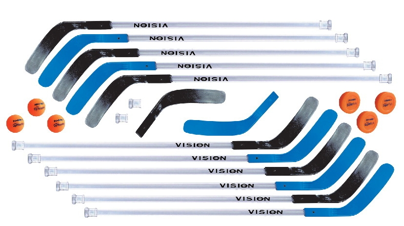 Dom 45 In Vision Replacement Floor Hockey Stick; Blue - 032356 - Stick And Ball Games Floorball 032356