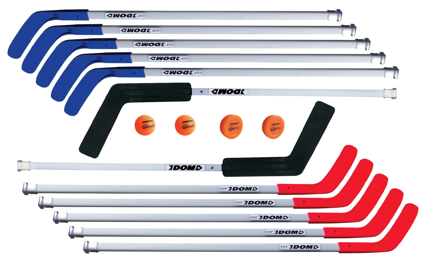 Dom 52 In Pro Replacement Floor Hockey Stick; Red - 032349 - Stick And Ball Games Floorball 032349