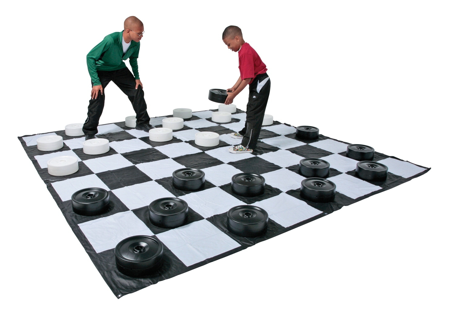 Toys Building Sets Building Sets & Equipment - 1321012 - Dom Giant Checkers Only; Set Of 24; White And Black 1321012