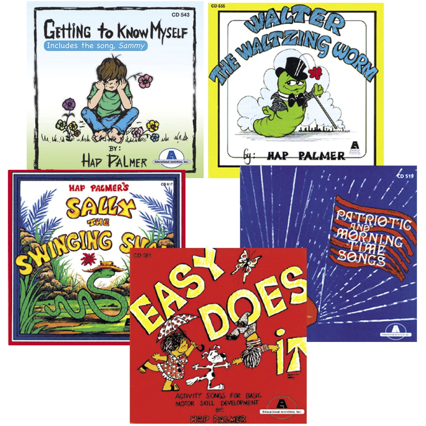 Educational Activities Best Loved Hap Palmer Cd Collection Set 1; Set Of 5 - 1531306 - Toys Books & Cds 1531306