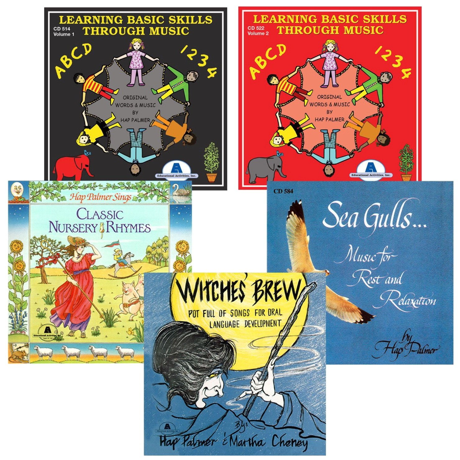 Educational Activities Best Loved Hap Palmer Cd Collection Set 2; Set Of 5 - 1531307 - Toys Books & Cds 1531307