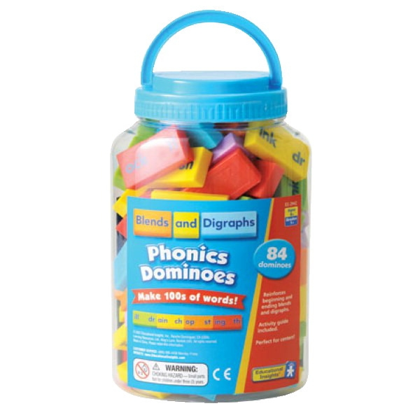 Toys Educational Toys Reading Toys - 088542 - Educational Insights Phonics Blends And Digraphs Dominoes; 84 Pieces 088542