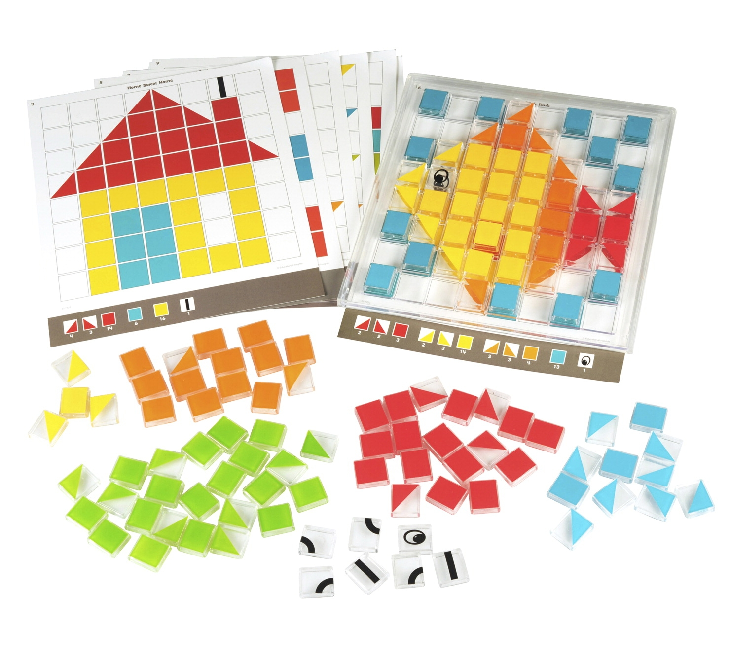 Toys Educational Toys Educational Flash Cards - 255906 - Educational Insights Picture Perfect Design Tiles; 137 Pieces 255906