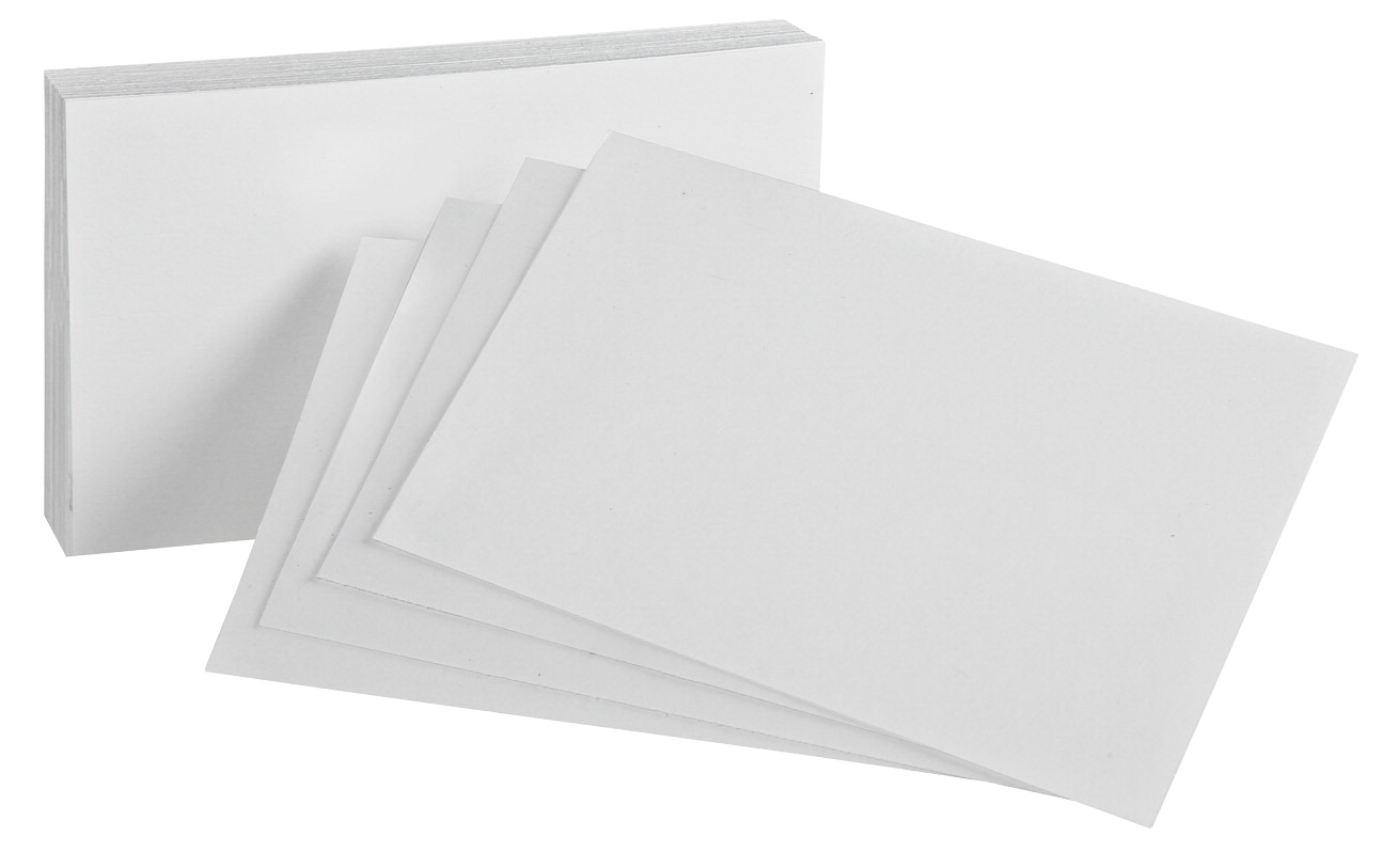 Esselte Pendaflex Oxford Blank Index Card; 5 X 8 In; White; Pack Of 100 - 1437858 - Facilities Management Dog Products Feeding Supplies 1437858