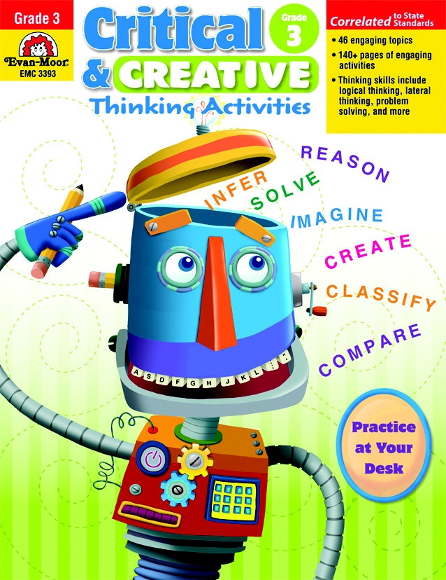Evan-moor Critical And Creative Thinking Activities Teacher's Book; Grade 3 - 1463246 - Toys Educational Toys Reading Toys 1463246