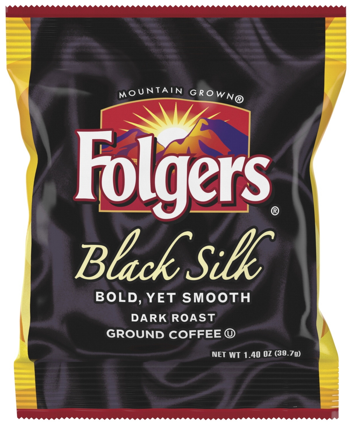 Folgers Black Silk Ground Coffee Fraction Pack; 1.4 Oz; Pack Of 40 - 1563735 - Facilities Management Facility Supplies Foodservice 1563735