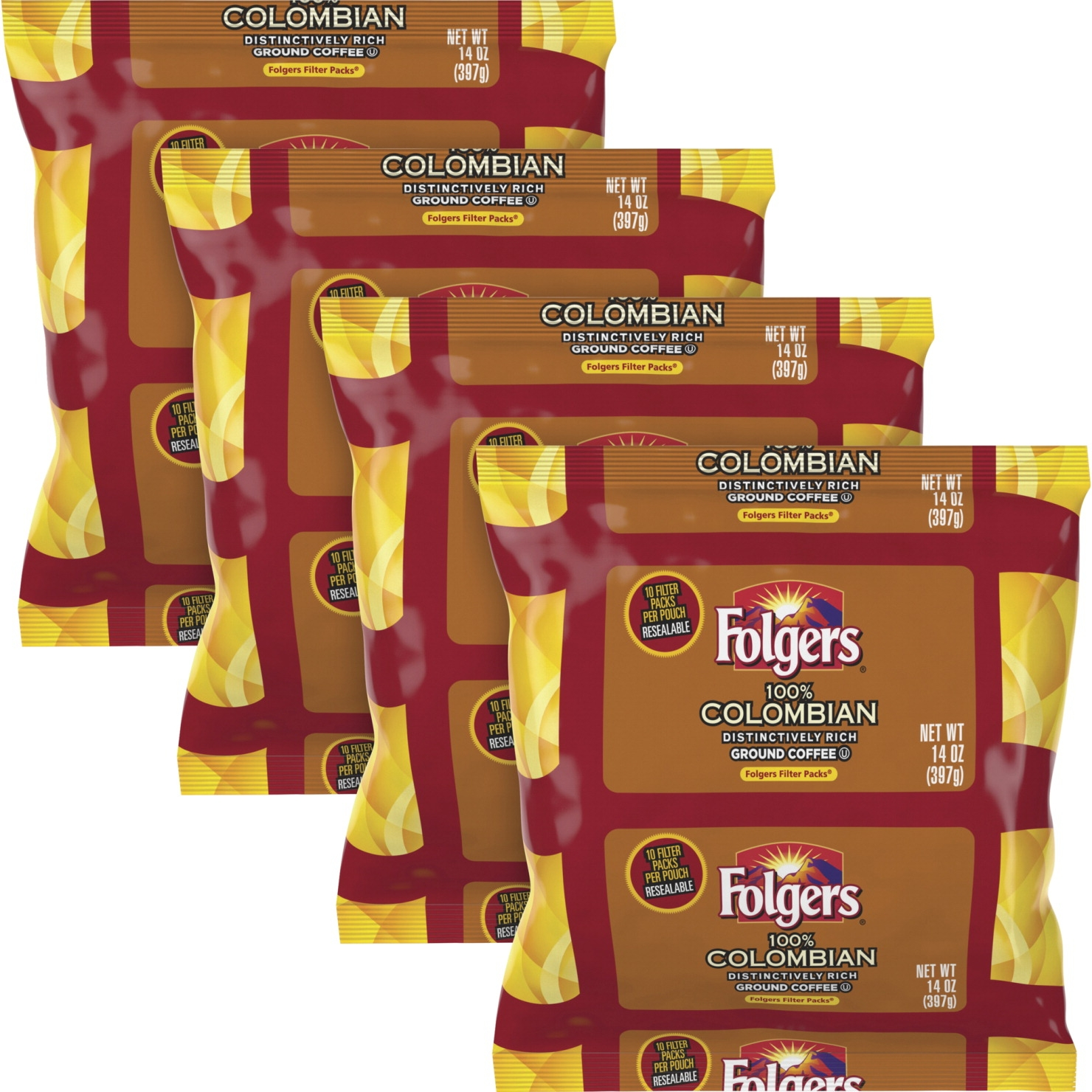 Folgers Colombian Ground Coffee Filter Packs Ground; 1 Oz ; 40 Pack - 1563736 - Facilities Management Facility Supplies Foodservice 1563736