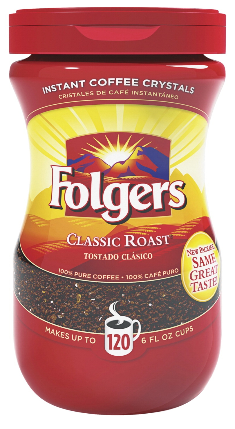 Folgers Instant Coffee Crystal; 8 Oz; Dark Brown; Classic Roast - 1502349 - Facilities Management Facility Supplies Foodservice 1502349