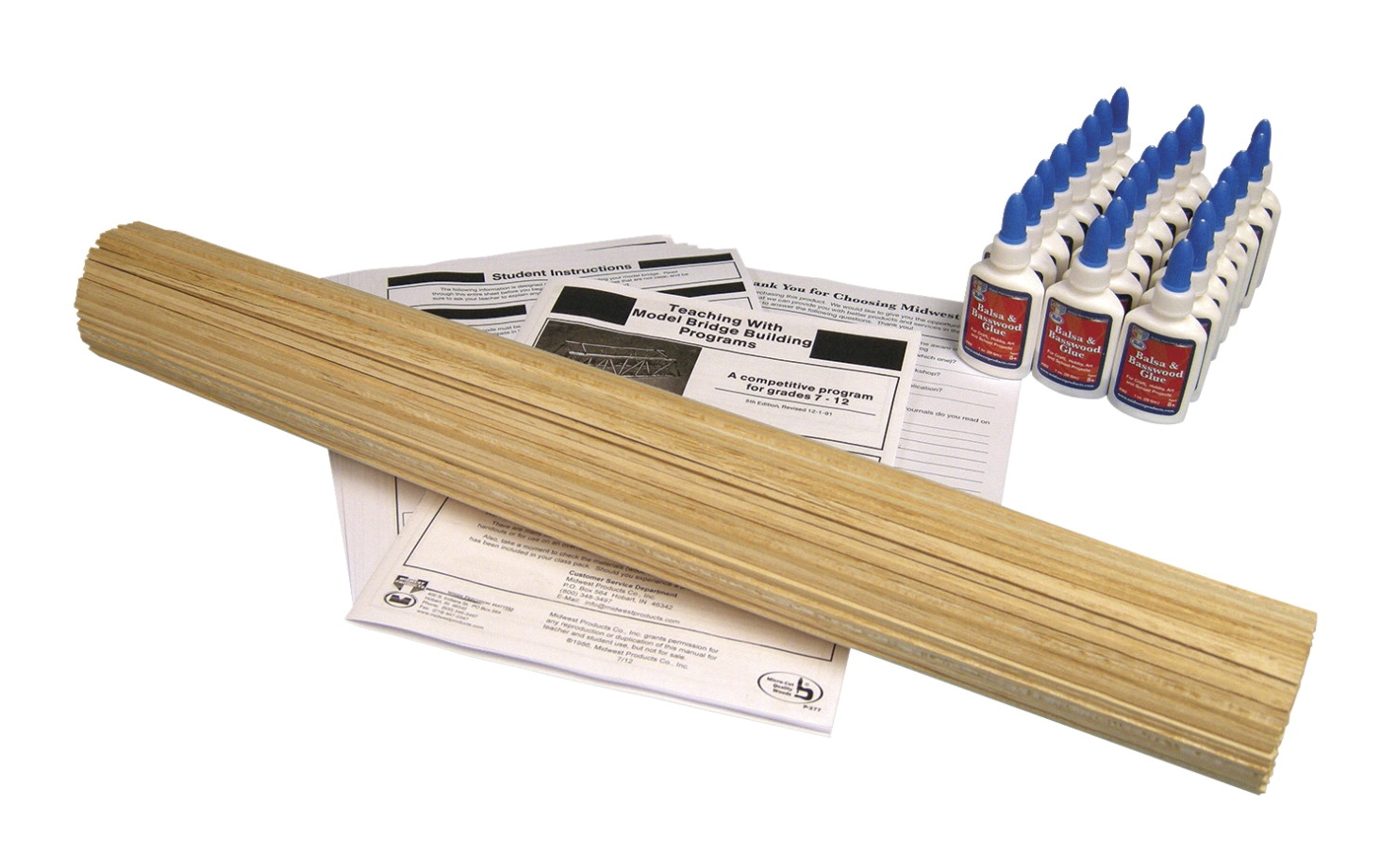 Frey Scientific Balsawood Or Basswood Bridge Building Kit - 571181 - Instructional Materials Resources Science Activities Equipment Physical Science Projects Books 571181