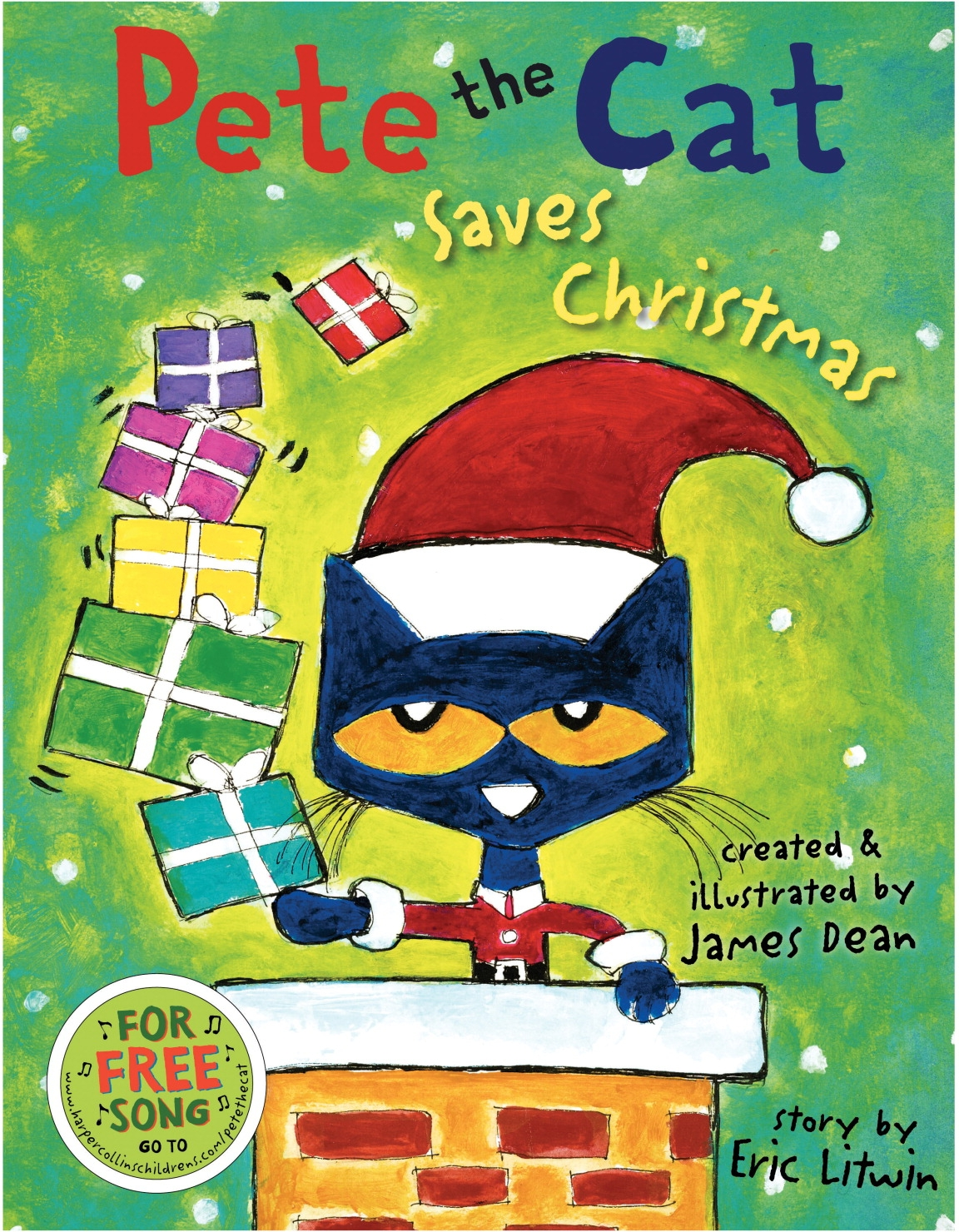 Facilities Management Cat Products Interactive Plush Toys - 1429759 - Harper Collins Pete The Cat Saves Christmas Book 1429759