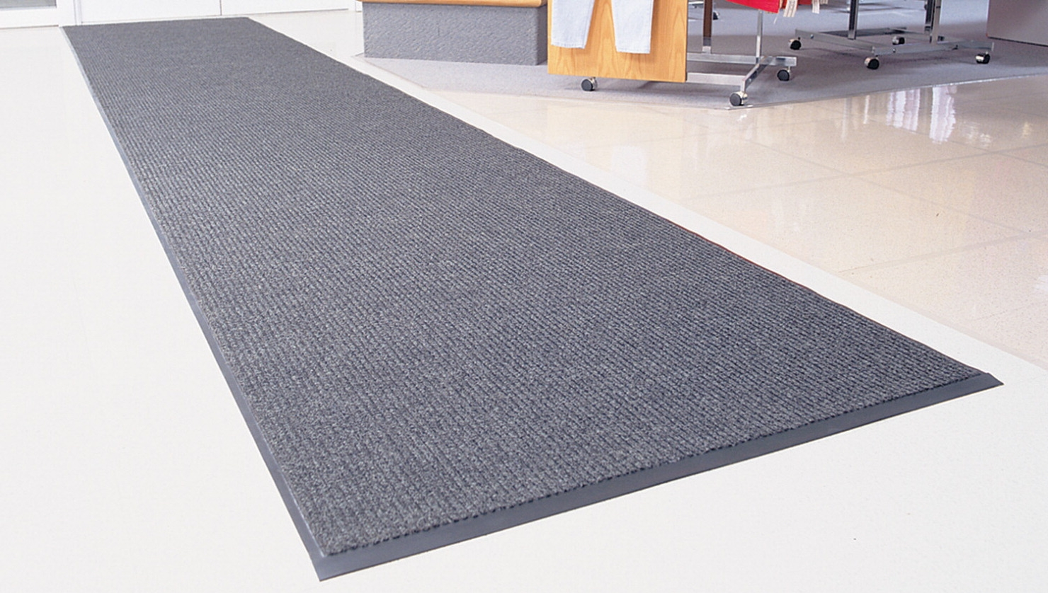 Heritage Rib Entrance Mat; 3 X 5 Ft; 3/8 In Thickness; Vinyl Backing; Charcoal - 079767 - Martial Arts Martial Arts Floors Mats 079767