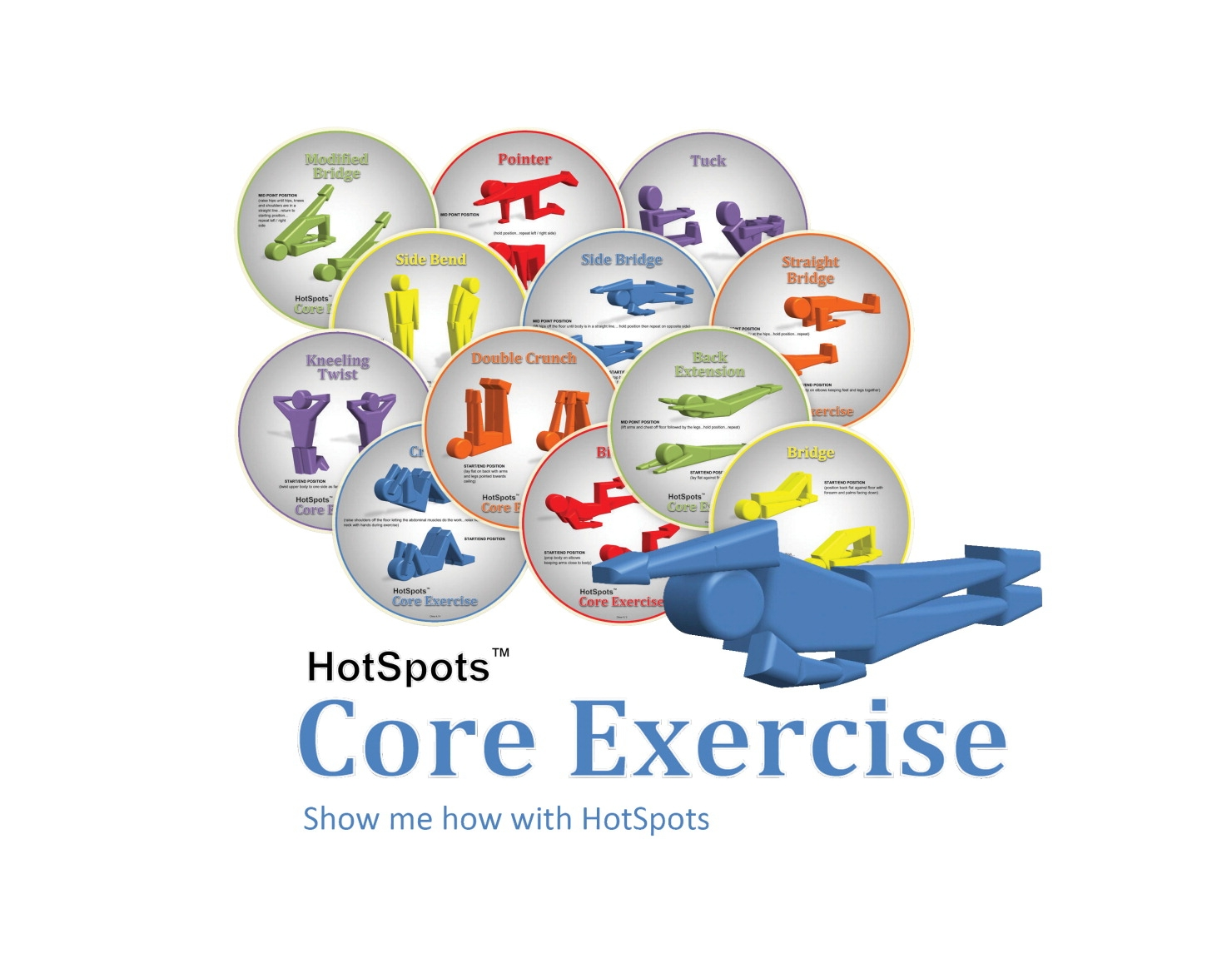 Hotspots 8-1/2 In Core Exercise Spots; Set Of 12 - 1284390 - Toys Activity Toys Coiled Spring Toys 1284390