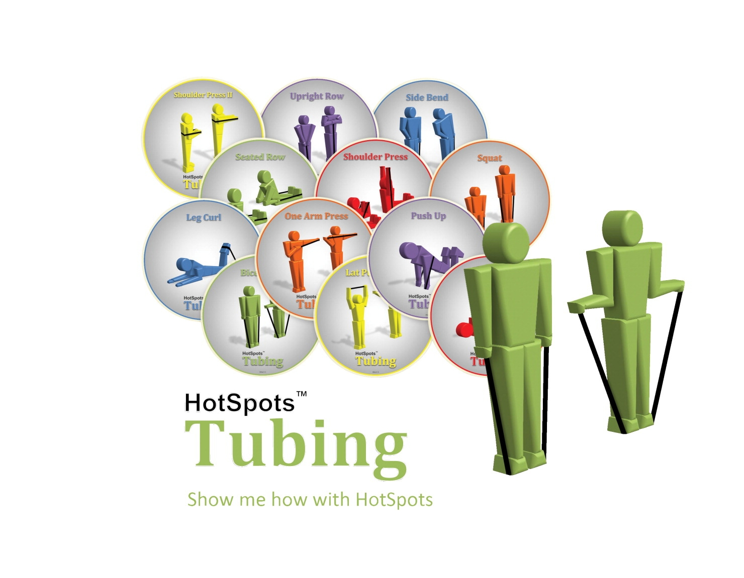 Hotspots 8-1/2 In Tubing Spots; Set Of 12; Green - 1284389 - Toys Activity Toys Coiled Spring Toys 1284389