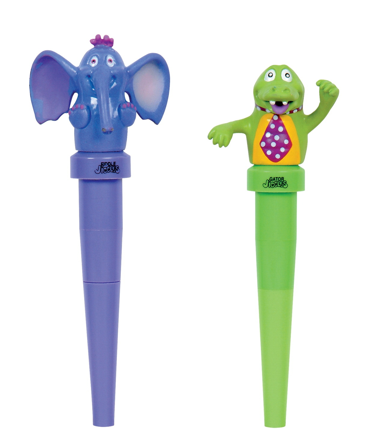 Jigglers Massager Elephant And Gator Chewable Oral Massager-pair Of 2 - 1452392 - Special Needs Sensory Processing Multi Sensory 1452392