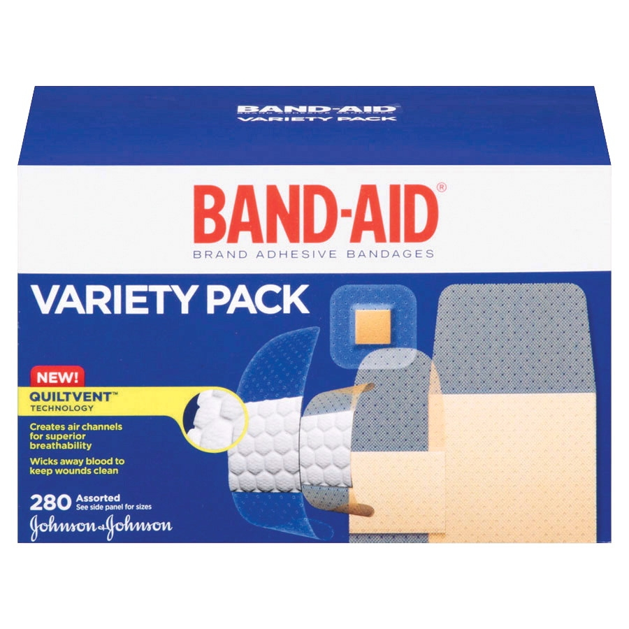 Johnson & Johnson Band-aid Assorted Shape Adhesive Bandage Variety Pack; Assorted Size; Sheer/wet Flex; Pack Of 280 - 1091791 - Facilities Management Facility Supplies First Aid Health Supplies Diagnostic Bandages And Masks 1091791