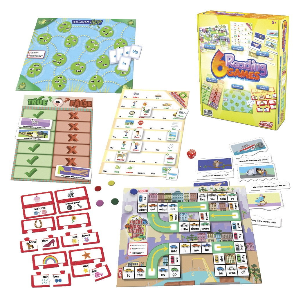 Junior Learning 6 Reading Games; Reading - 1569445 - Toys Literacy Language Aides 1569445