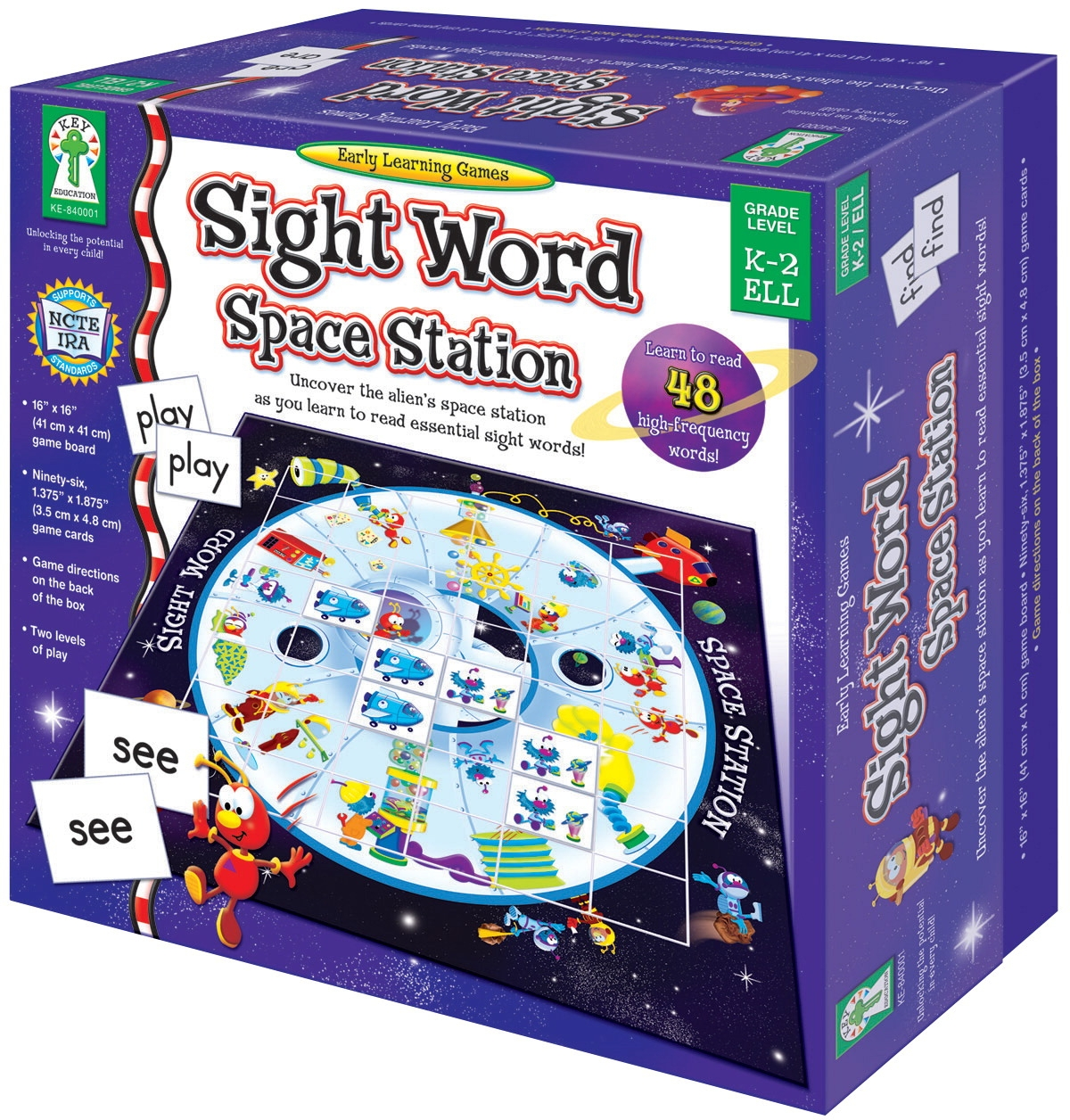 Key Education Sight Word Space Station Game - 1329580 - Physical Education Sport Fitness Equipment Accessories Fitness Games 1329580