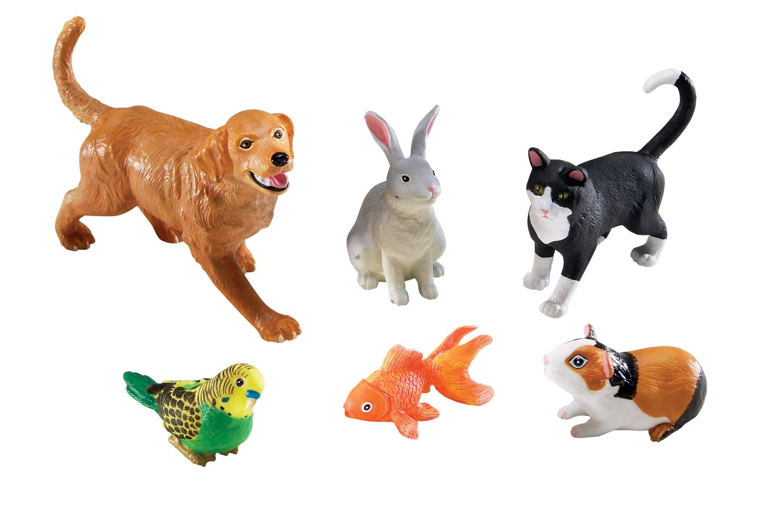 Toys Art & Drawing Toys Art Resources - 205900 - Learning Resources Assorted Jumbo Pets; Set Of 6 205900