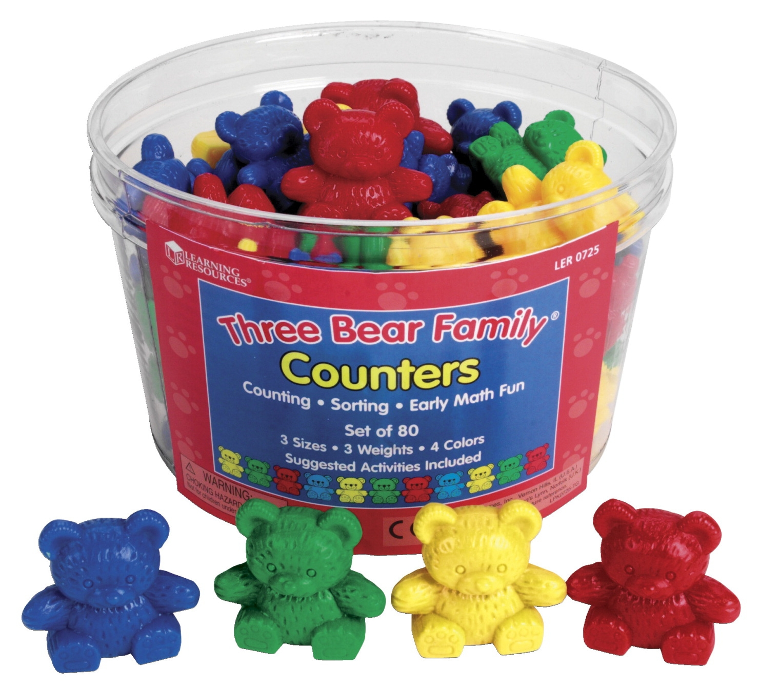 Toys Math Counters - 031-8306 - Learning Resources Three Bear Family Counters 031-8306