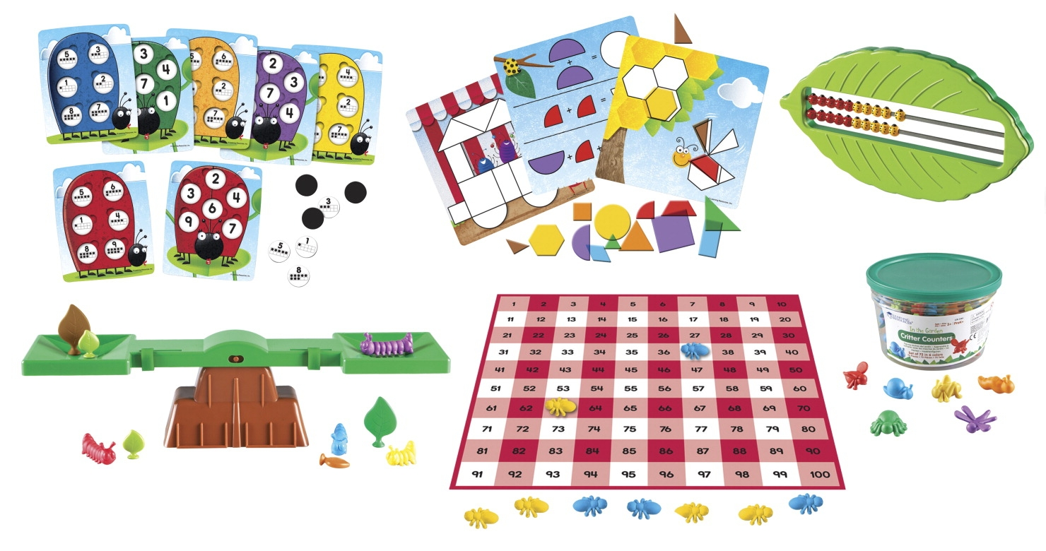 Toys Educational Toys Bug Collecting Kits - 1465346 - Learning Resources Common Core Critters Kit; Kindergarten Bundle 1465346