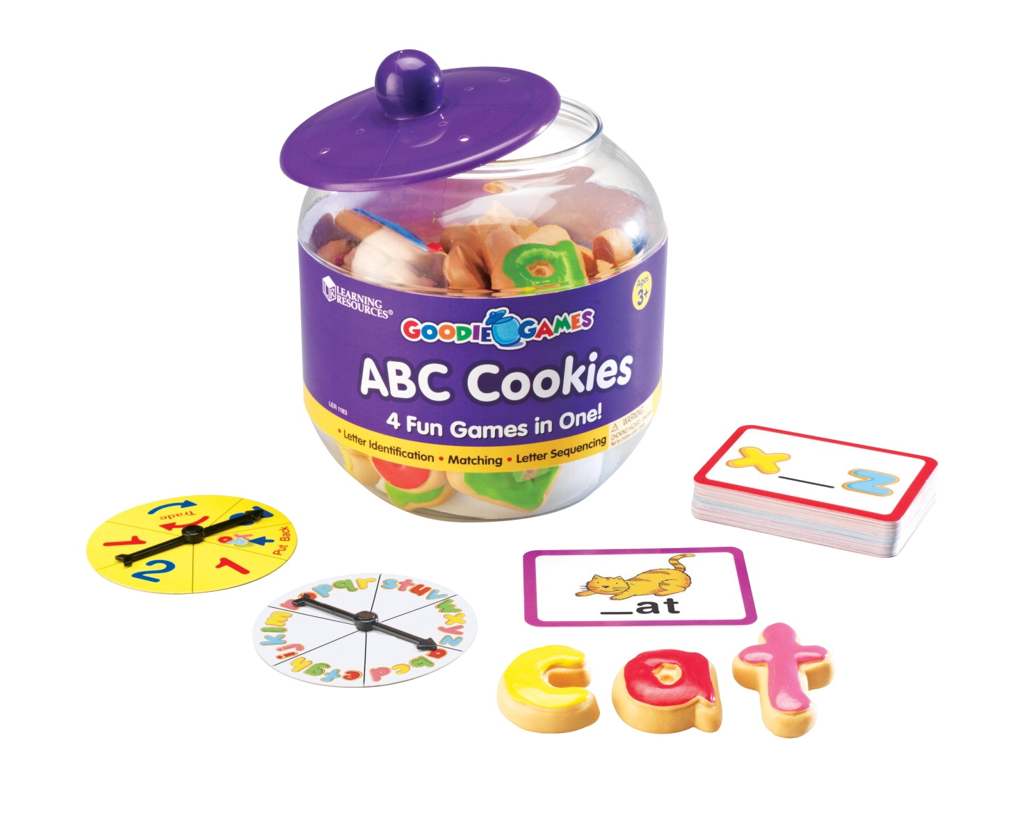 Toys Learning Rugs - 1328556 - Learning Resources Goodie Games Abc Cookies; 89 Pieces 1328556
