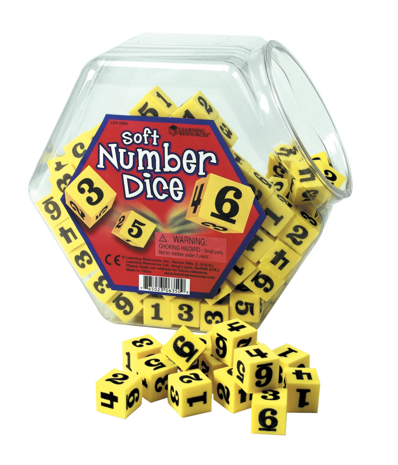 Learning Resources Hands-on Soft Number Dice - 040-7699 - Instructional Materials Resources Science Activities Equipment Physical Science Projects Books 040-7699