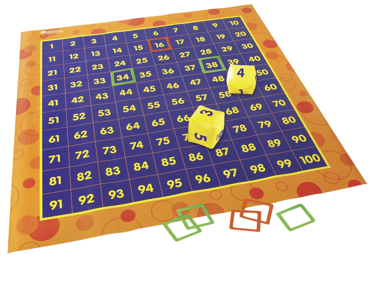 Toys Hands On Math Activities - 1414077 - Learning Resources Hundreds Activity Mat; 4 X 4 Feet 1414077