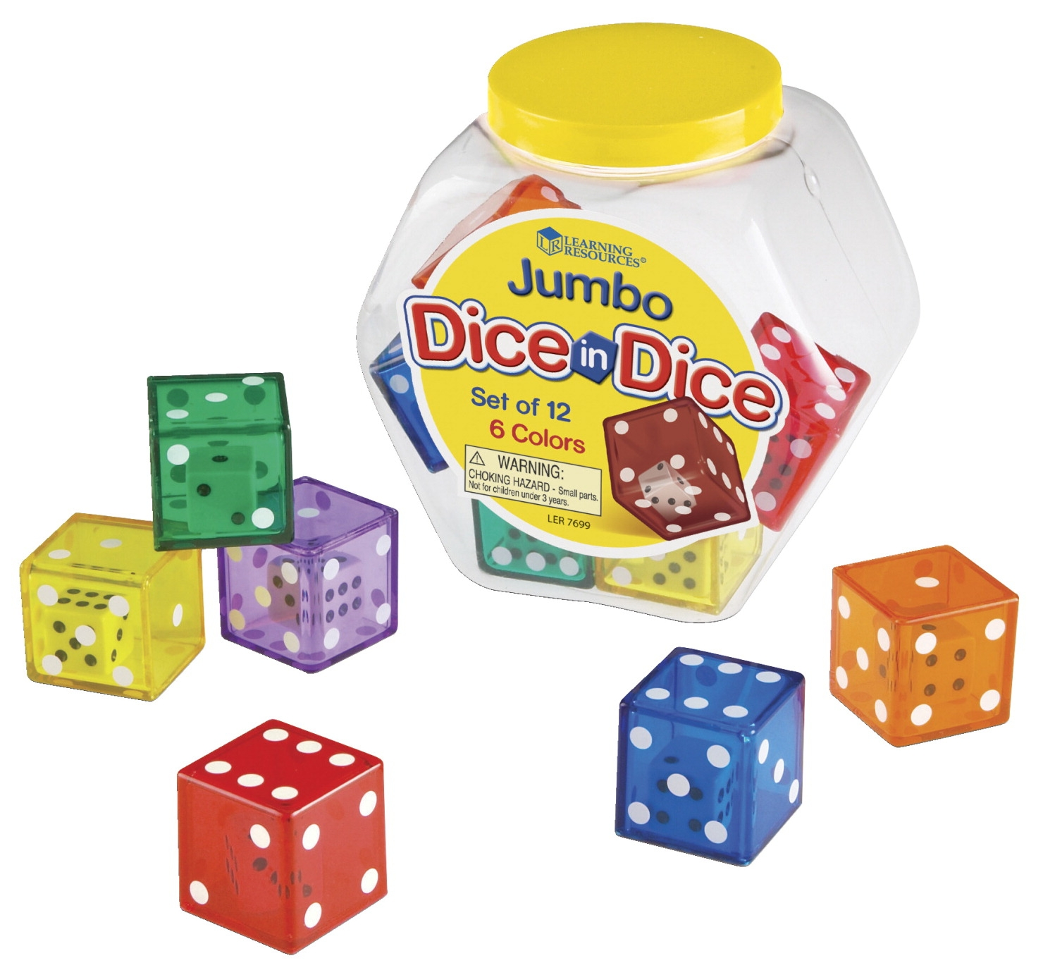 Learning Resources Jumbo Dice In Dice Set - 1363022 - Instructional Materials Resources Science Activities Equipment Physical Science Projects Books 1363022