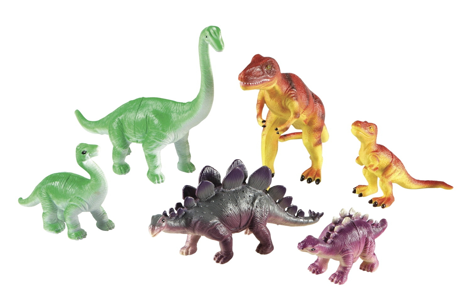 Toys Puzzles - 1533481 - Learning Resources Jumbo Dinosaurs: Mommas And Babies; Set Of 6 1533481