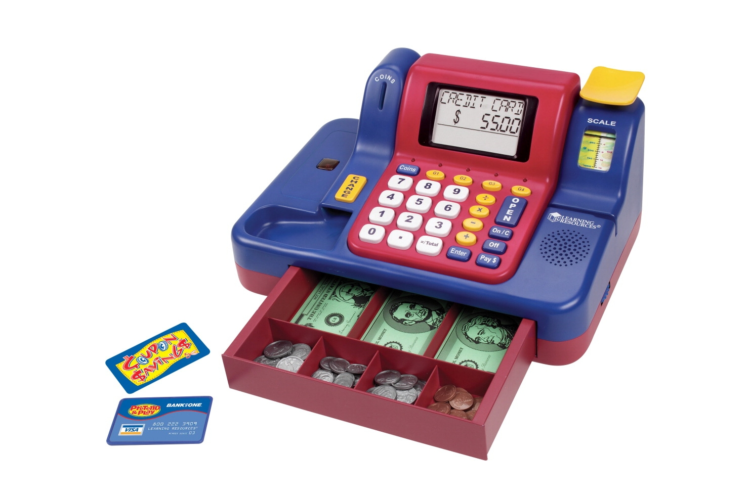 Learning Resources Pretend And Play Teaching Cash Register - 076819 - Facilities Management Table Cloth Tire Cover Lighting Tire Covers Black And White Plain Tire Covers 076819