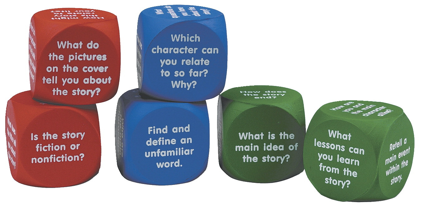 Toys Educational Toys Reading Toys - 081561 - Learning Resources Reading Comprehension Cubes; 6 Pieces 081561