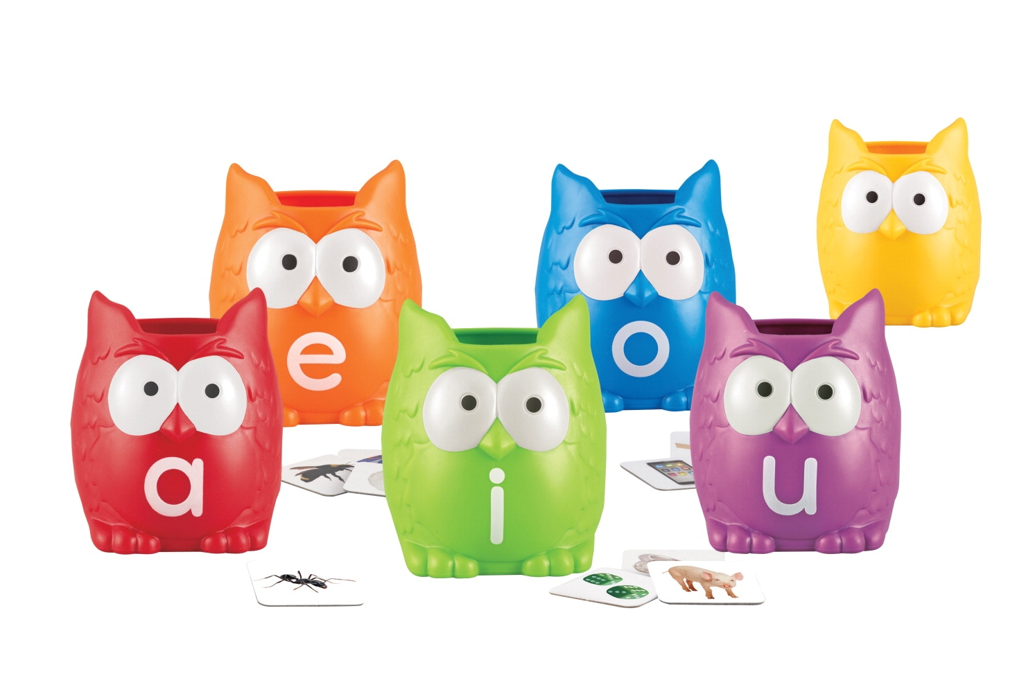 Toys Art & Drawing Toys Art Resources - 1465344 - Learning Resources Vowel Owls Sorting Set; 107 Pieces 1465344