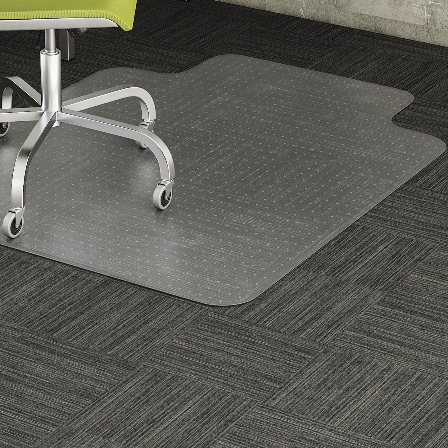 Lorell Low-pile Carpet Chairmat; Wide Lip 25 X 12 In; 45 X 53 In; Clear - 1506078 - Facilities Management Bar Stool Set Table Chair Metal State Logo Chairs Wood Metal Chairs 1506078