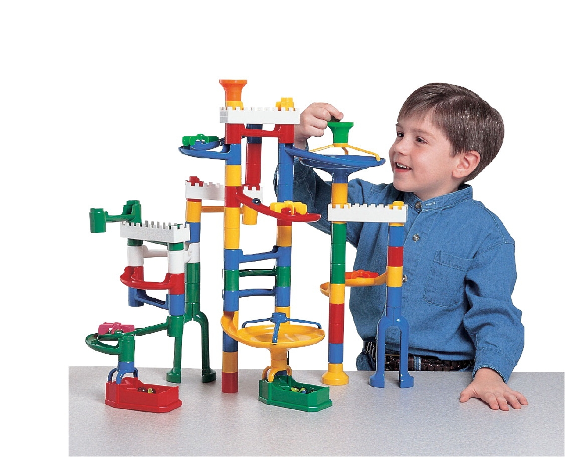 Toys Building Toys Marble Track Sets - 502686 - Marvel Education Manipulative Marble Run Toy Set 502686