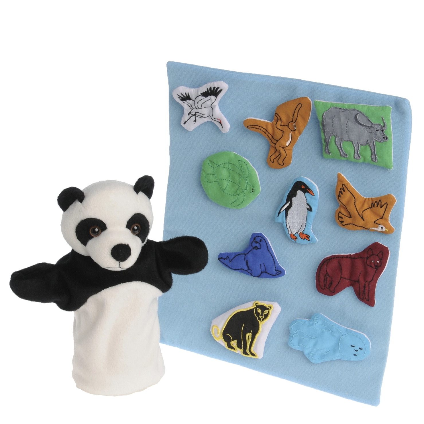 Marvel Education Puppet And Props For Panda Bear Panda Bear; Set Of 12 - 1531965 - Physical Education Sport Organization Spots Spatial Awareness 1531965
