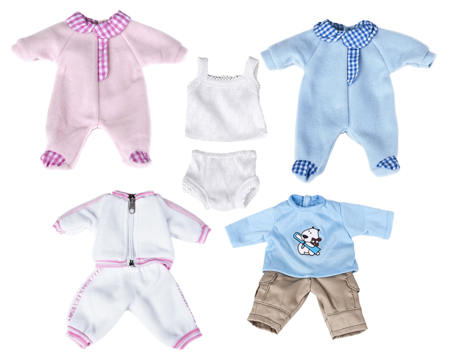 Toys Dolls Playsets & Toy Figures Doll & Action Figure Accessories - 1576271 - Miniland Clothes For Newborn Baby Dolls; Set Of 5; 12-5/8 Inch 1576271