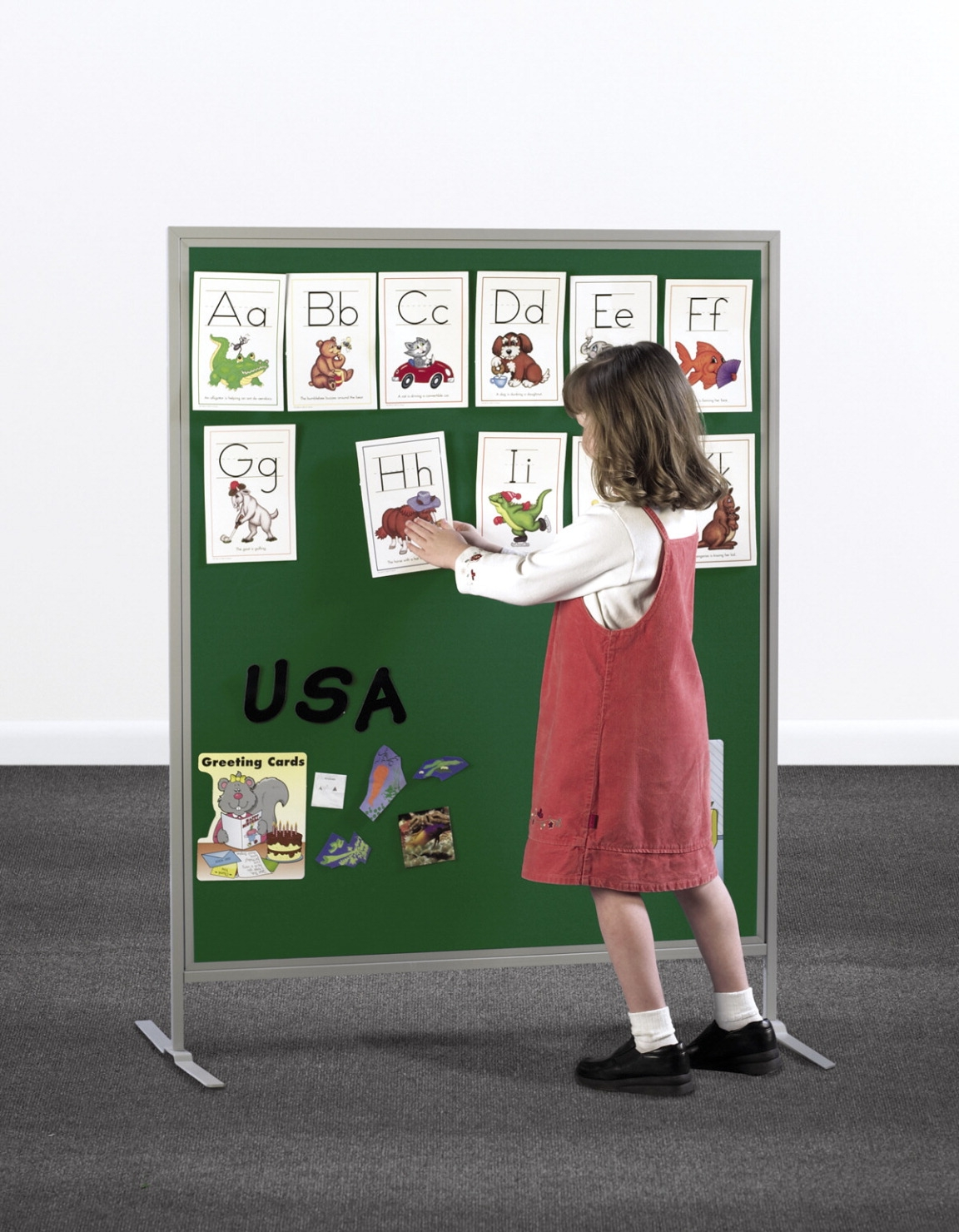 Multiplex Child Size Tackboard Display Panel; 40 X 48 X 55 In; Steel Frame; Fabric; White - 405938 - Special Populations Children Special Needs Gaint Leap Visual Snoezelen Fiber Optics And Interactive Panels 405938