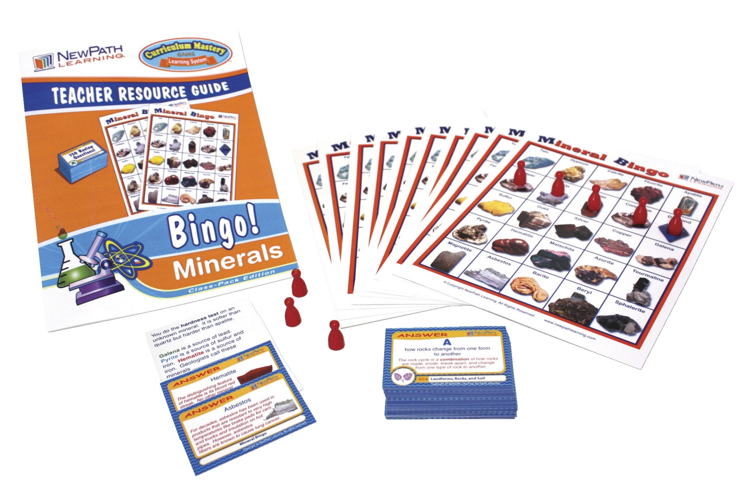 Newpath Mineral Bingo Game - 1474177 - Toys Activity Toys Ball & Cup Games 1474177