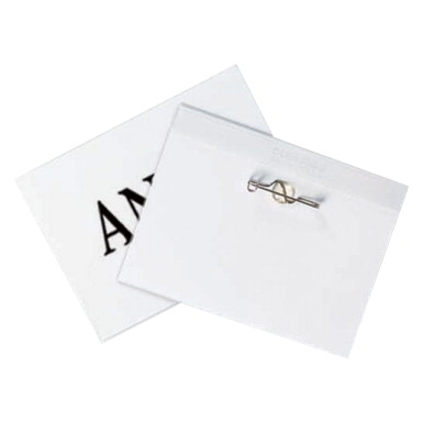 C-line Pin Style Name Badges With Inserts; Clear; 3-1/2 X 2-1/4 Inches; Pack Of 100 - 1403203 - Toys School Age 1403203