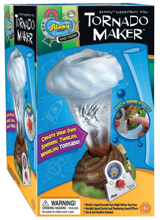 Poof-slinky Inc Tornado Maker Kit; 5.8 L X 5.8 W X 11.8 H In - 1299295 - Instructional Materials Resources Science Activities Equipment Physical Science Projects Books 1299295