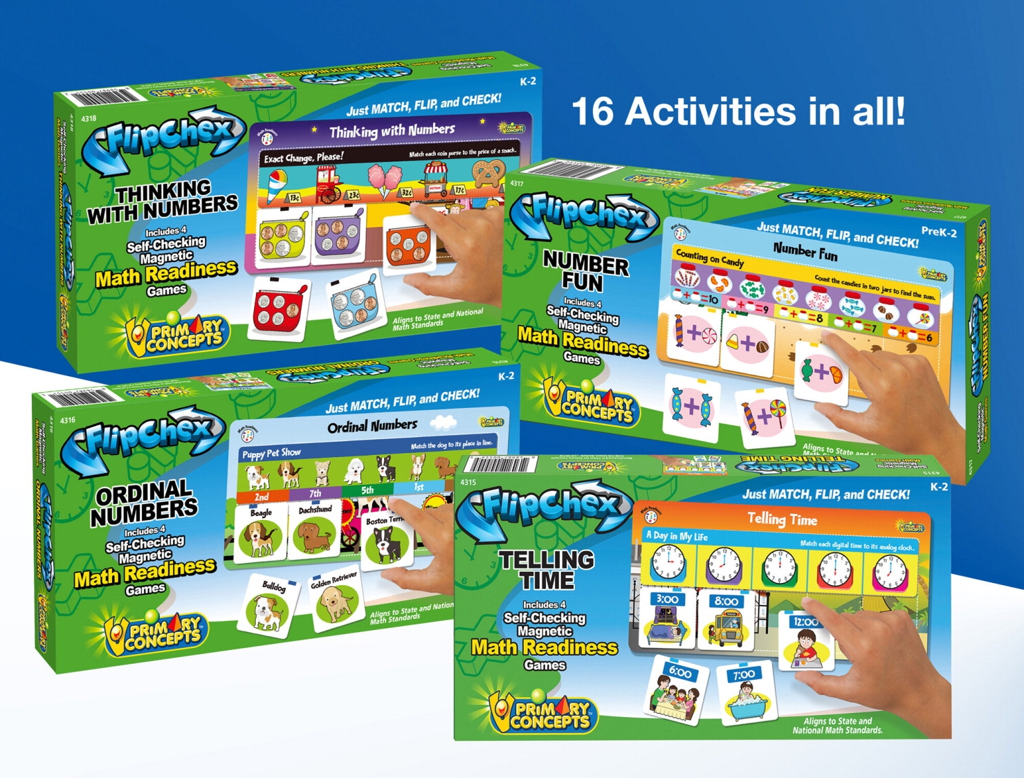 Toys Manipulatives - 1567640 - Primary Concepts Flipchex Math; Set Of 4 1567640