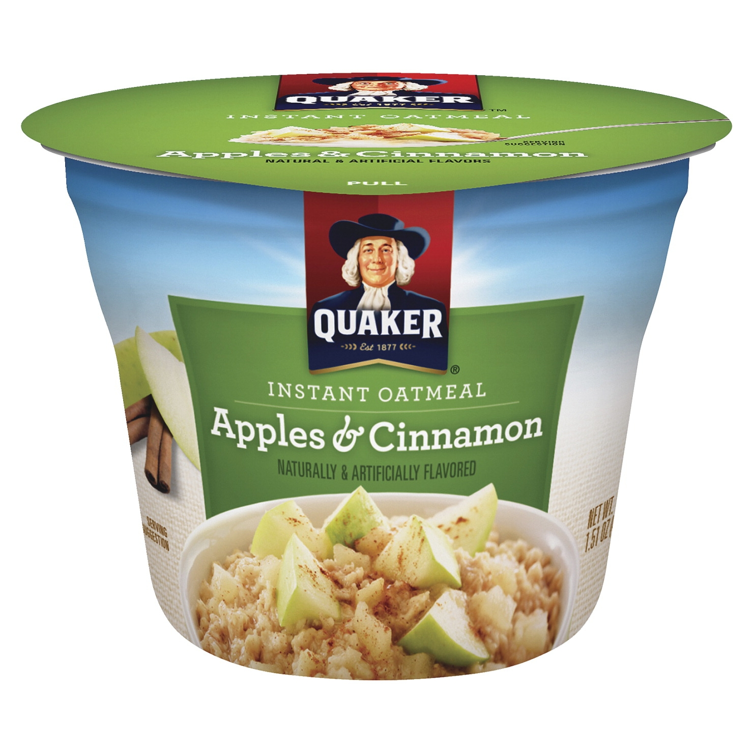 Quaker Foods Apple Cinnamon Instant Oatmeal Cup; Apple Cinnamon; Single Serve; 24 Per Carton - 1499461 - Baseball And Softball Baseball Athletic Supporter Cups 1499461