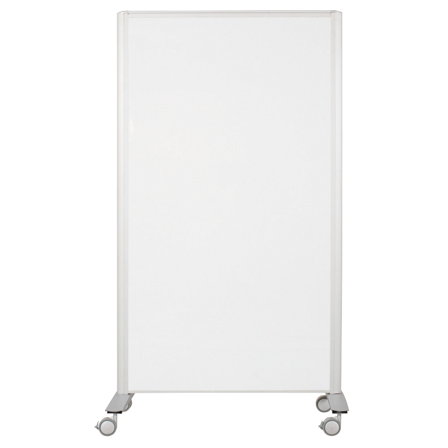 Best-rite Lumina Double Sided Room Divider With Caster; Markerboard Platinum Frame - 1366101 - Flying Disc Sports Double Disc Court 1366101