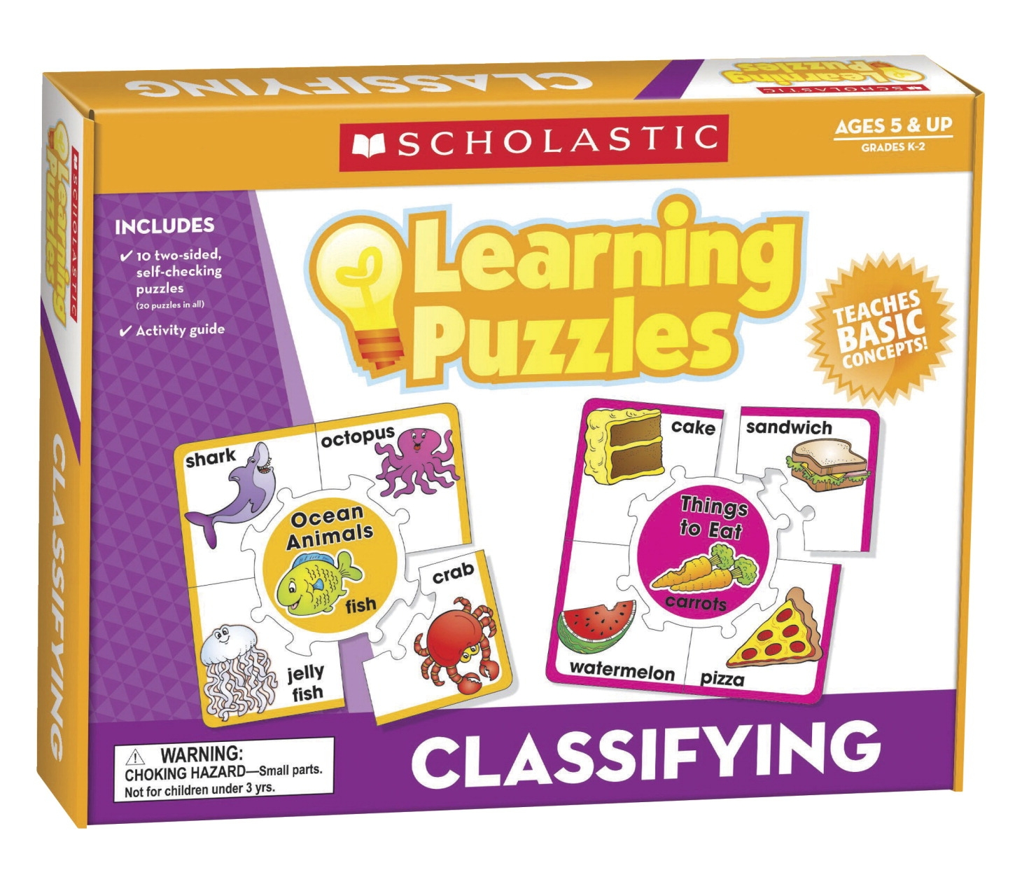 Toys Ride Ons - 086282 - Scholastic Hands-on Learning Classifying Puzzles 086282