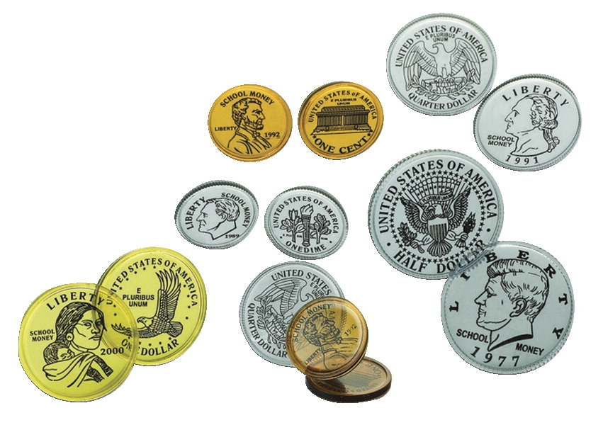 School Smart Bulk Play Money Half-dollars - 085132 - Special Populations School Smart Money Kit And Math Product 085132