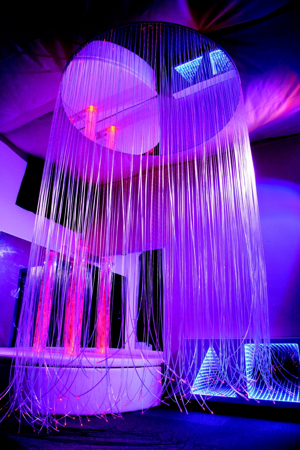 School Specialty Circular Led Fiber Optic Calming Shower With Wireless Controller-6 Foot Strands - 1397563 - Special Populations Children Special Needs Gaint Leap Visual Snoezelen Fiber Optics And Interactive Panels 1397563