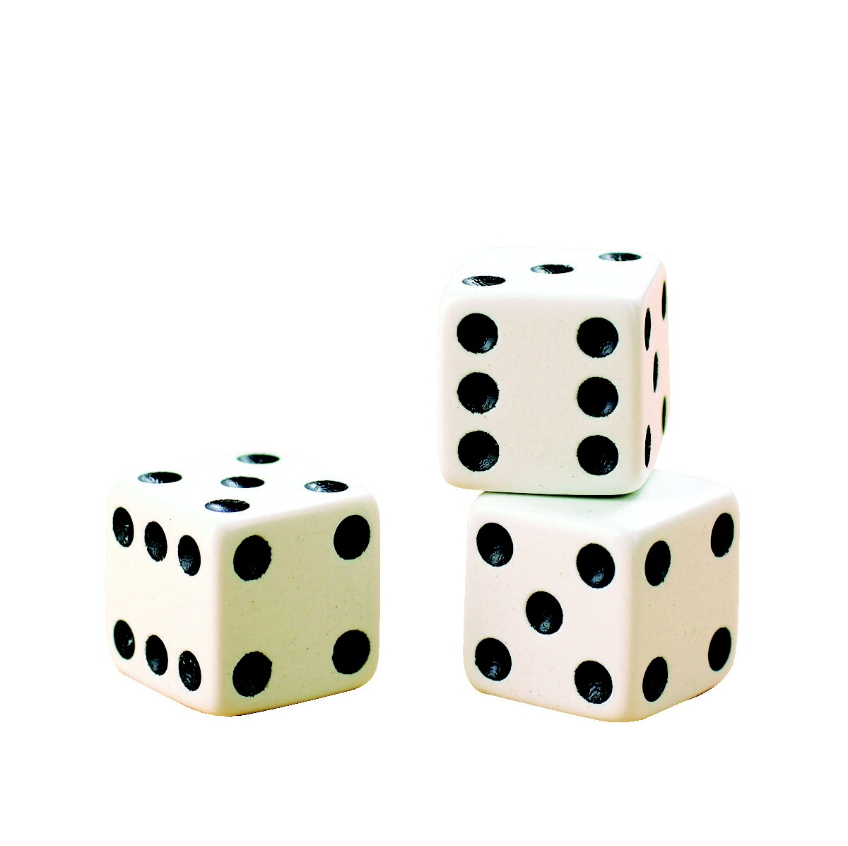 Toys Educational Toys Science & Exploration Sets - 282922 - School Specialty Dice Set; White With Black Dots 282922