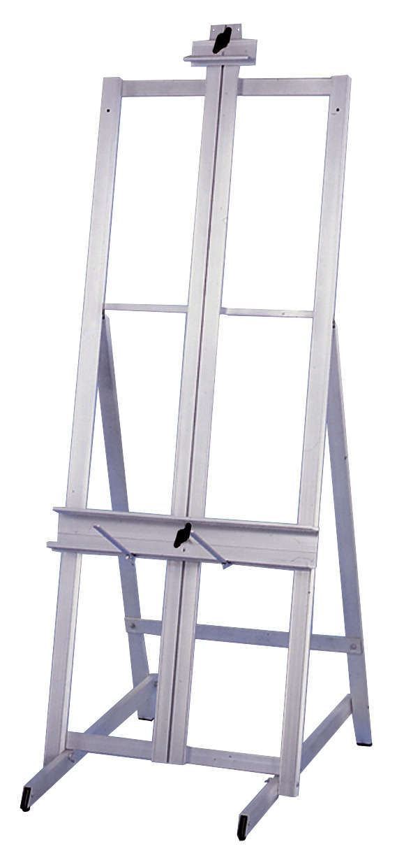 School Specialty Foldable Professional H-frame Easel; 60 In H X 24 In W; 15 Lb; Aluminum - 247590 - Toys Easels And Drying Racks 247590