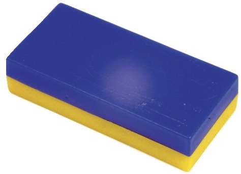 School Specialty Plastic Encased Block Magnets-1/2 In X 1 In X 2 In-pack Of 12-blue And Yellow - 078431 - Instructional Materials Resources Science Activities Equipment Physical Science Projects Books 078431