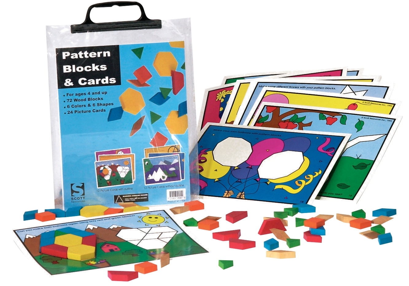 Scott Resources Pattern Blocks And Card Se - 308596 - Instructional Materials Resources Science Activities Equipment Physical Science Projects Books 308596